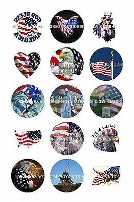 """PATRIOTIC 4TH OF JULY MEMORIAL DAY 2"""" CUPCAKE TOPPERS. $3.45"""