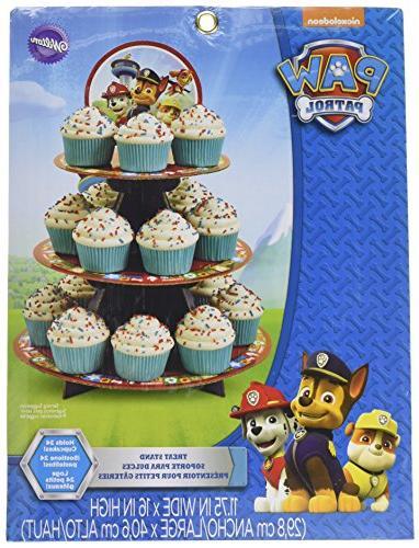paw patrol cupcake treat stand