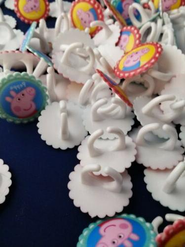 Peppa rings cupcake toppers lot theme George