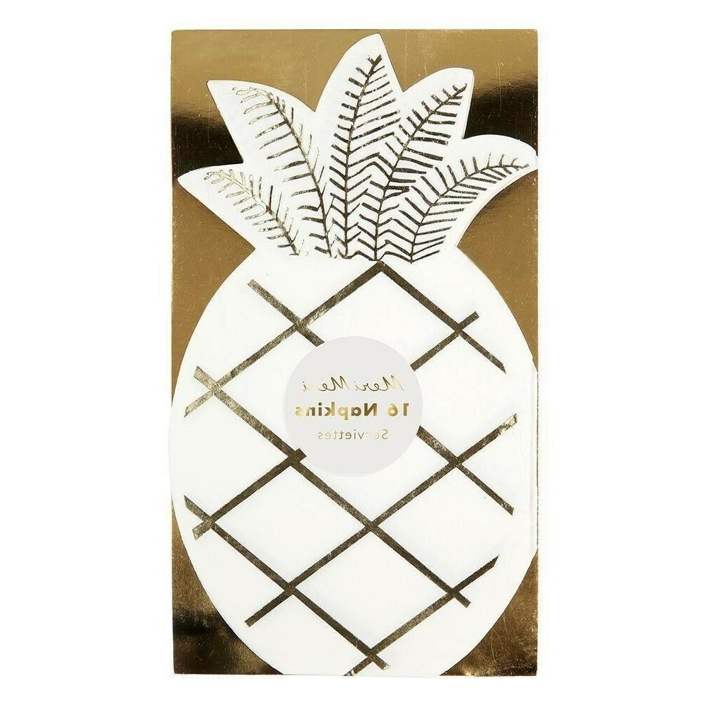 pineapple shape paper napkins pk 16 tropical