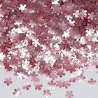 Pink Glitter Flowers Natural Cupcake Decorations Edible Topp