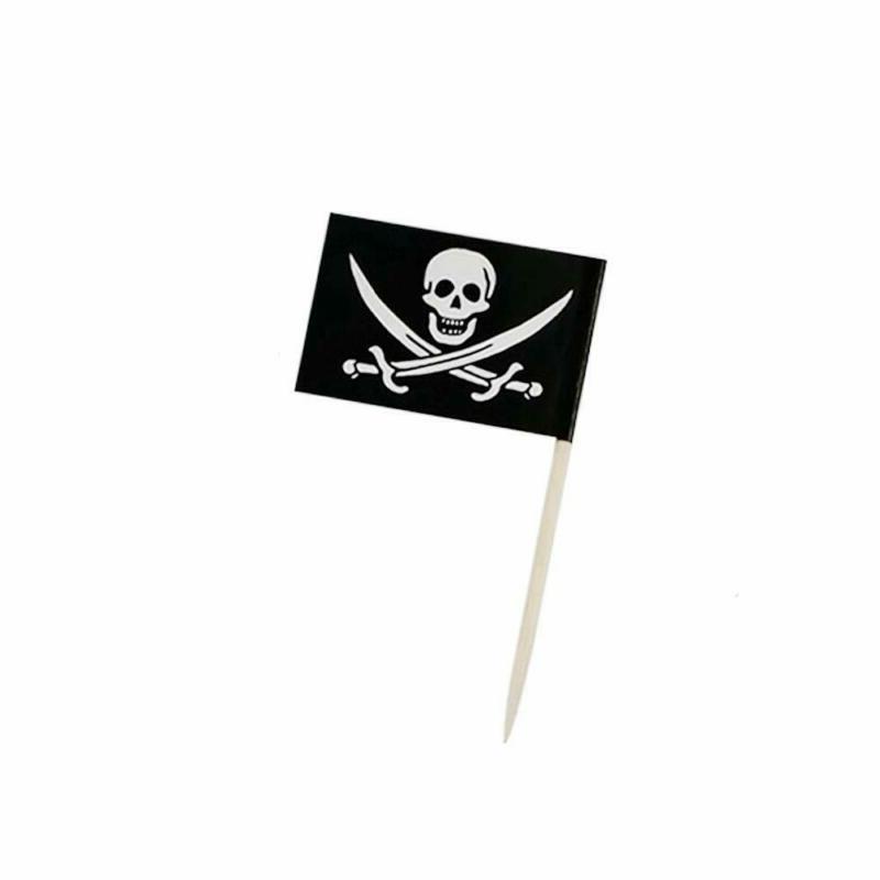 pirate flag picks food fruit toothpicks cocktail