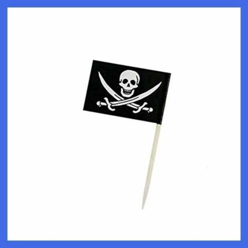 pirate flag picks food fruit toothpicks cocktail