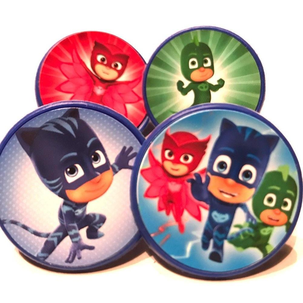 PJ Masks Cupcake Toppers Rings - Set of 16 Cake Toppers Birt