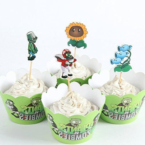 24pc Plants Vs Zombies Garden Warfare Cupcake Toppers