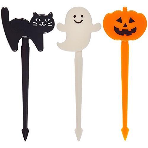 Prextex 72 Pack Plastic Halloween Cupcake Jack 'O and Black Cat