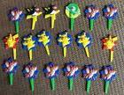 POKEMON CUPCAKE TOPPERS 18 VINTAGE NINTENDO BIRTHDAY PARTY P