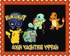 Pokemon Go 2 Edible Birthday Cake Topper OR Cupcake Topper,