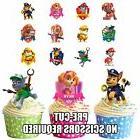 PRECUT Paw Patrol - 36 Edible Cupcake Toppers Decorations Bo