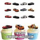 PRECUT Sports Cars 36 Edible Cupcake Toppers Boys Mens Birth