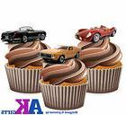 PRECUT Vintage Sports Car 12 Edible Cupcake Toppers Decorati
