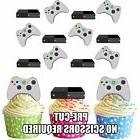 PRECUT Xbox Console Controller 12 Edible Cupcake Toppers Bir
