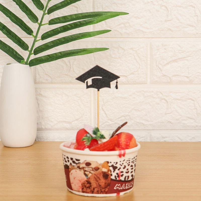 Props Party Decor 2019 Graduation Cupcake Toppers Food