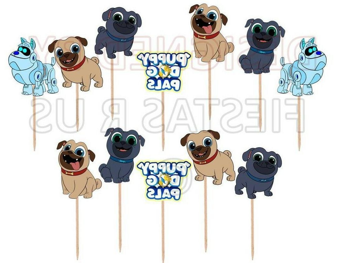 Puppy Dog Pals Cupcake Toppers 12 or 24