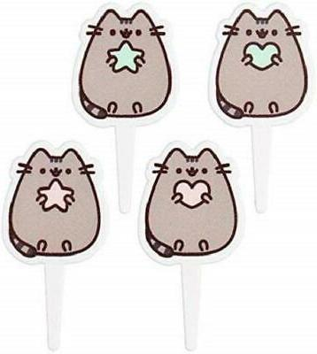 Pusheen Cat Toppers Birthday Favors - 24