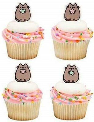 Pusheen Cat Cupcake Toppers Birthday Supplies Favors - 24