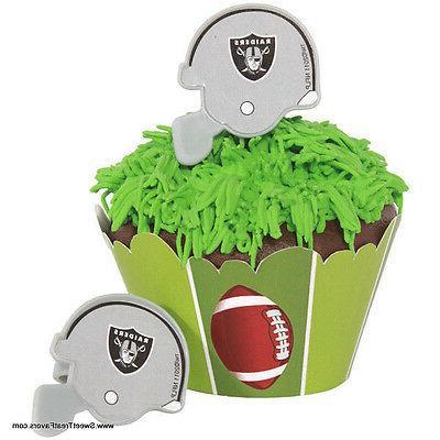 RAIDERS OAKLAND CupCake Cake Topper 12 18 24 Favors Decorati