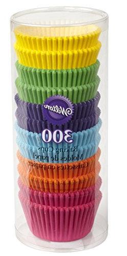 rainbow bright baking cups