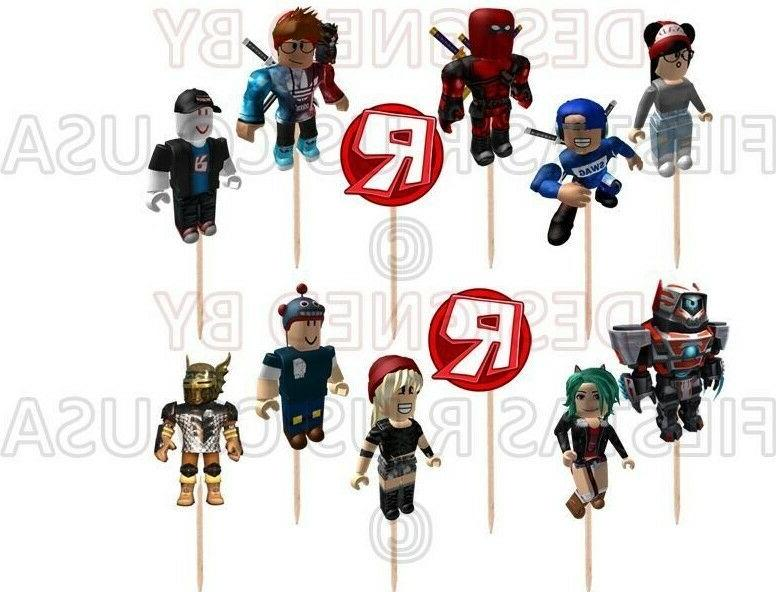 roblox cupcake toppers 12 or 24 pc