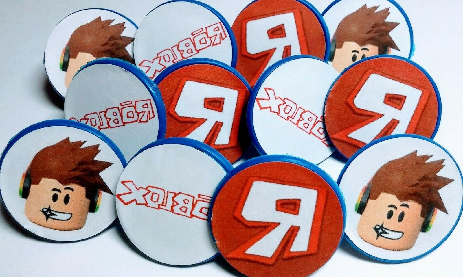 roblox cupcake toppers party favor rings 12ct