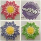 Wilton Royal Flower Icing Decoration Purple Pink Green Cupca