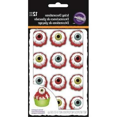 royal icing decorations bloody eyeball