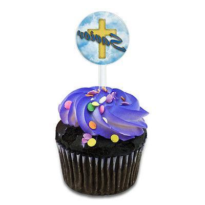 savior cross and clouds religious inspiration cake
