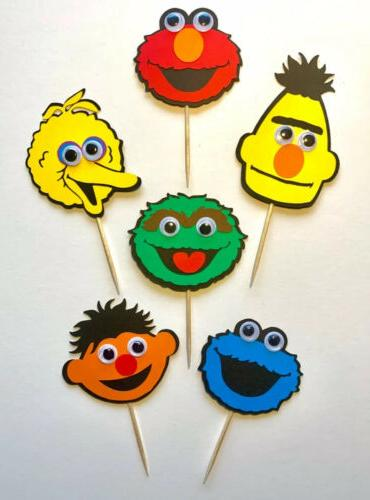 Sesame Street Eyes Cupcake Toppers Sesame Themed Party