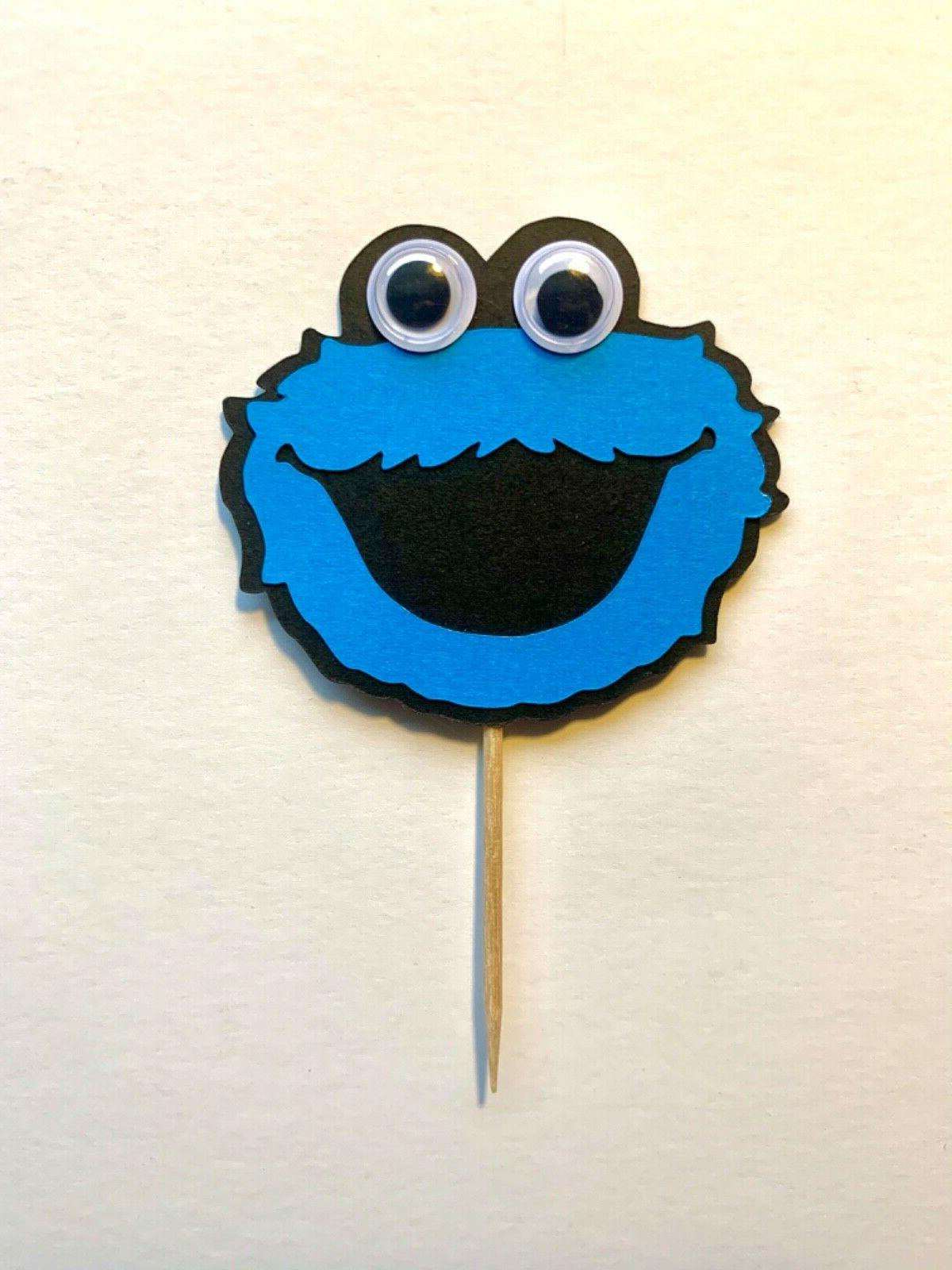 Sesame Eyes Cupcake Toppers Themed Birthday Party