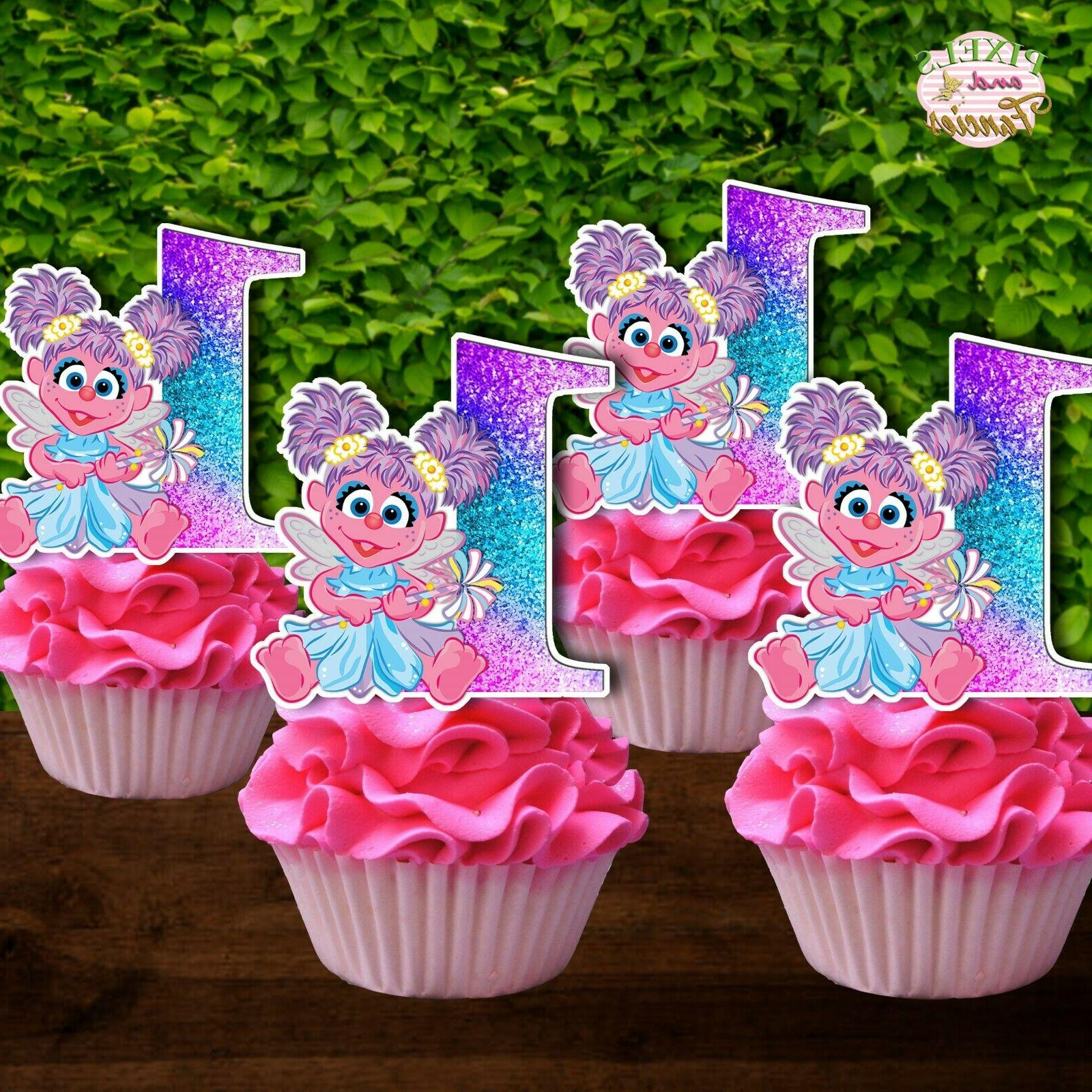 set of 12 abby cadabby cupcake toppers