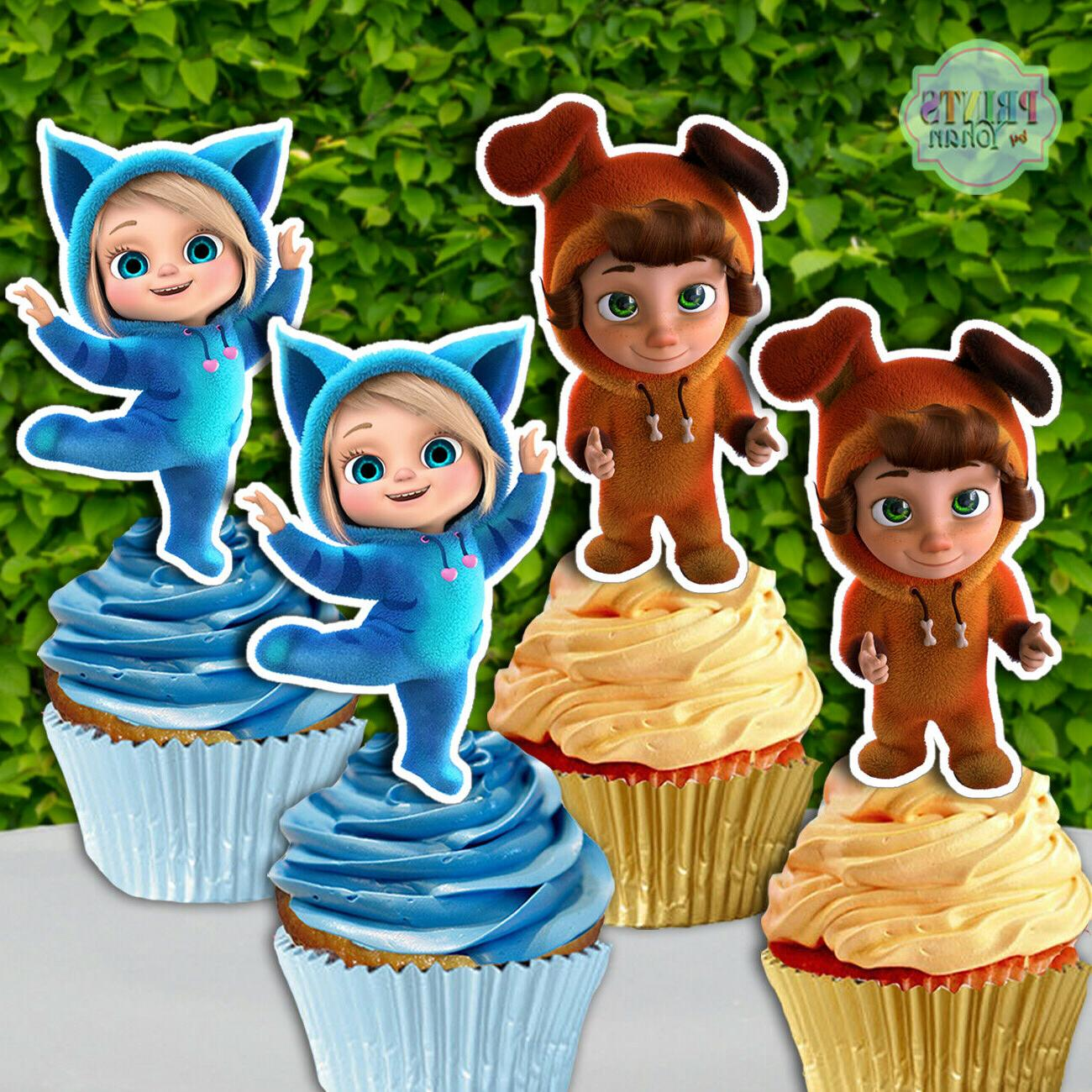 set of 12 dave and ava cupcake