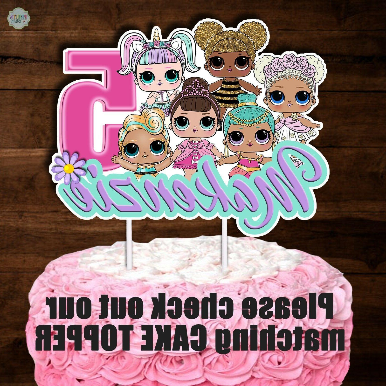 Set Surprise Dolls Cupcake Cupcake Picks,