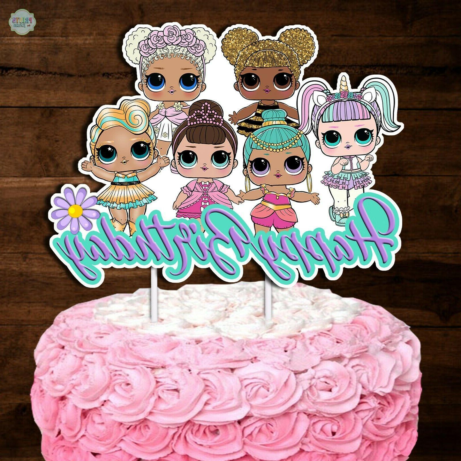 Set Surprise Cupcake Toppers, Cupcake Picks,