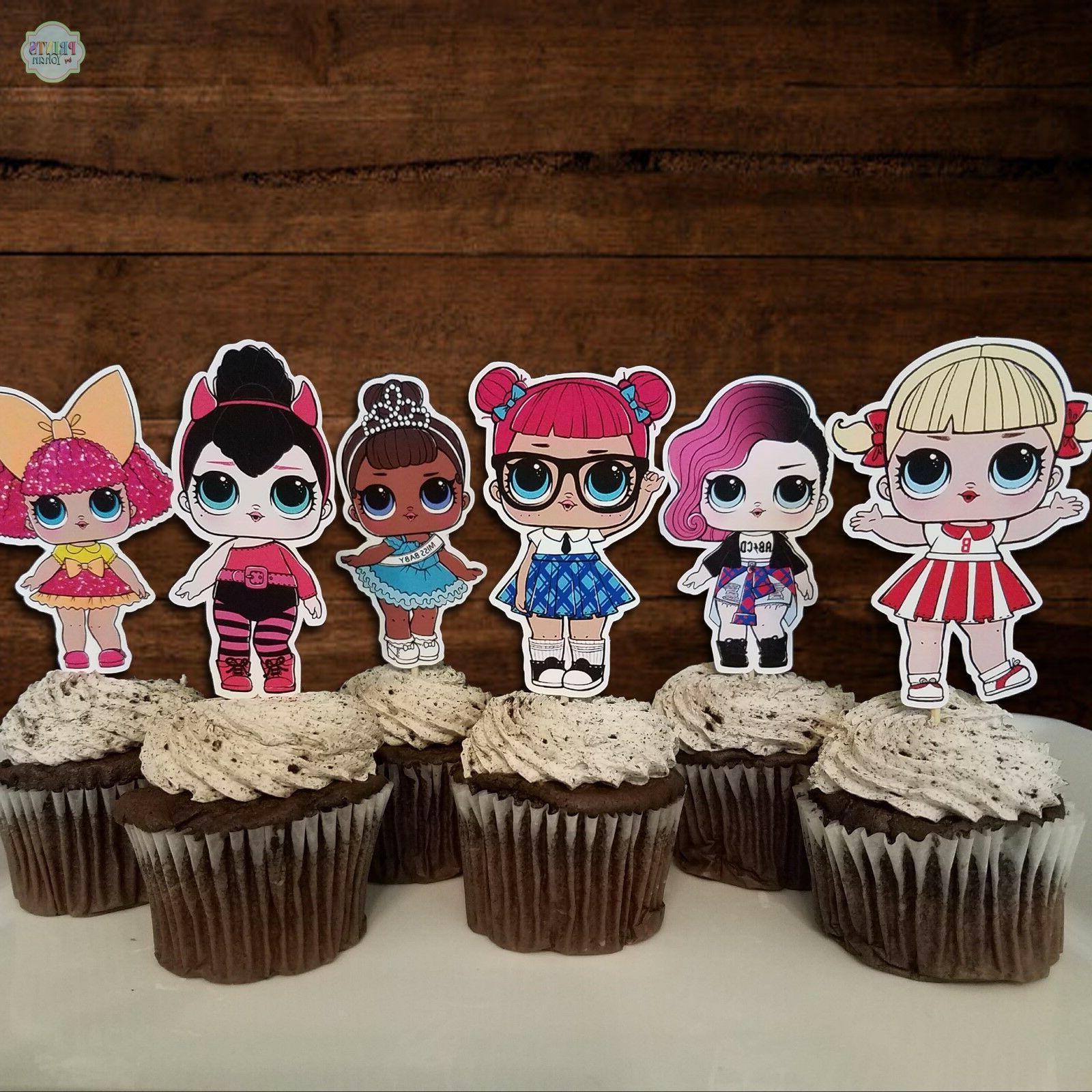 Set of 12 Surprise Cupcake Cupcake Decorations