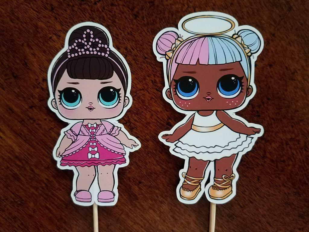 Set of 12 Surprise Cupcake Picks, Decorations