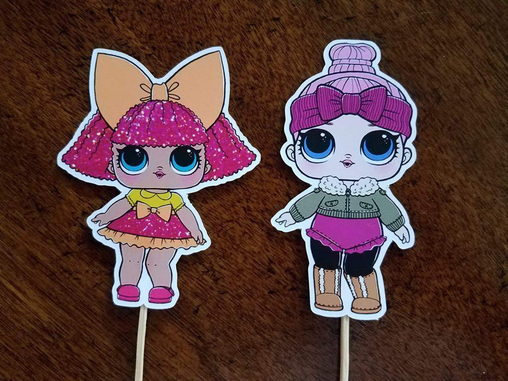 Set Surprise Dolls Cupcake Toppers, Cupcake Cupcake