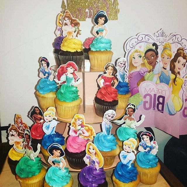 Set 12 PRINCESS Cupcake Toppers,