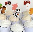 Yunko Set of 24 Farm Animals Cake Cupcake Decorative Topper