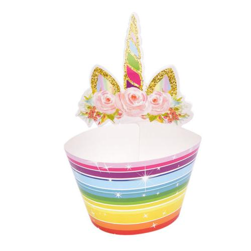 Set of 24 Unicorn Cupcake Double Sided RS