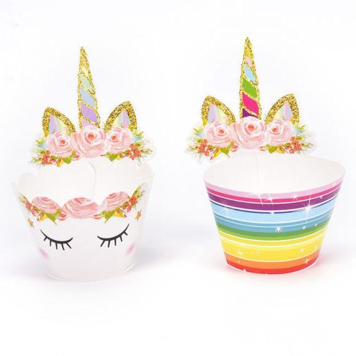 Set 24 Unicorn Cupcake and Double Sided Kids RS