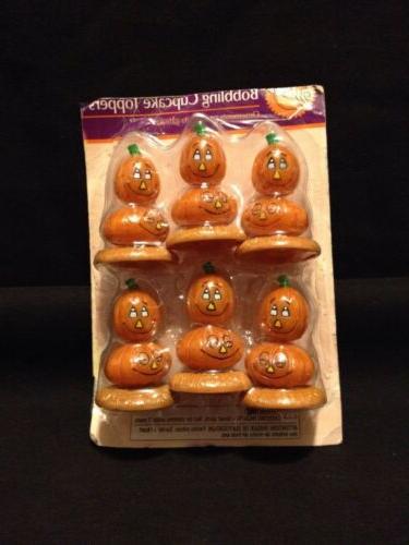 Set 3 Bobbling Cake Toppers Pack Of Halloween