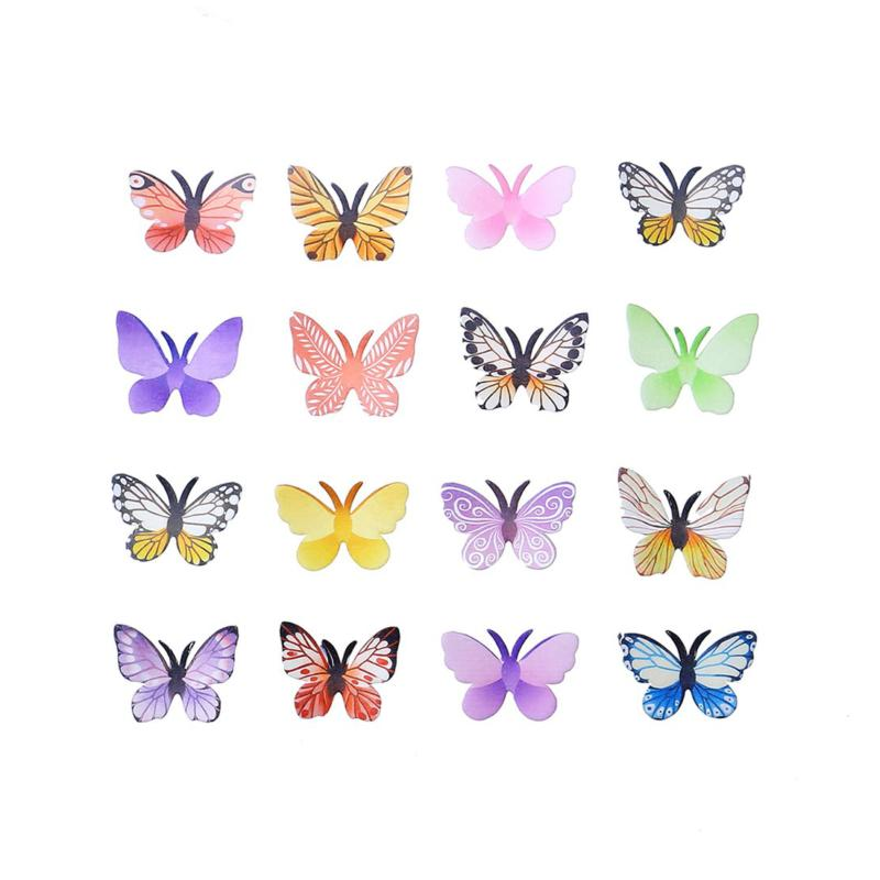 "Set 1.77"" Butterflies & Cupcake Toppers Colour"
