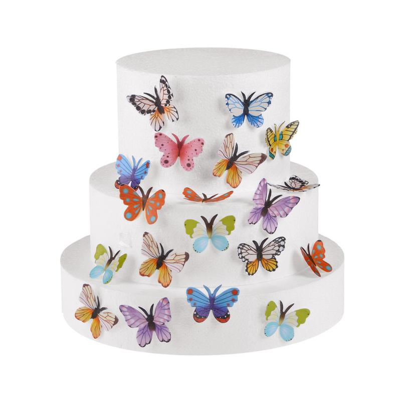 "Set 1.77"" Edible Butterflies & Cupcake Toppers Colour"