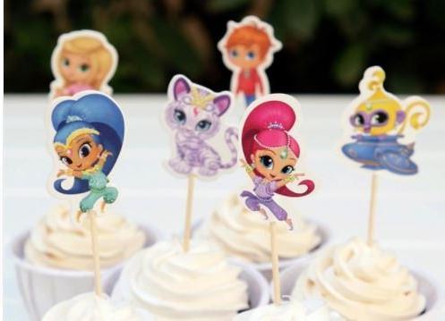 shimmer shine assorted cupcake picks