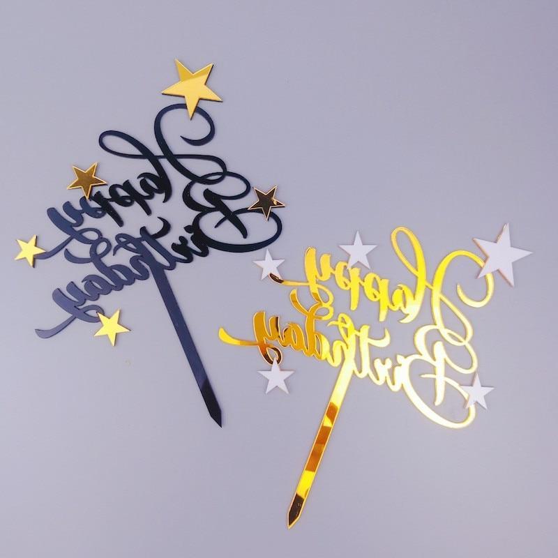 shiny happy birthday cake font b topper