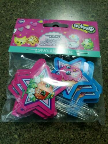 shopkins cupcake fun pix toppers 24ct by