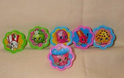 shopkins cupcake party rings toppers multi color