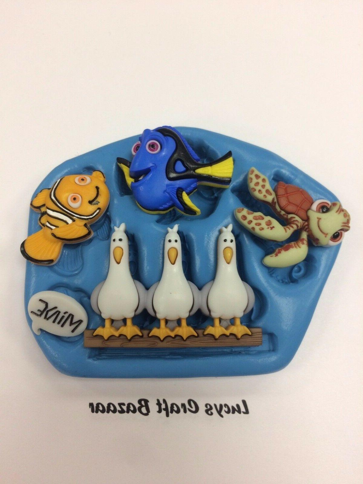 silicone mould finding nemo dory crush seagulls