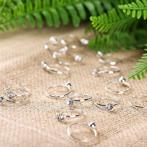 Whaline Diamond Rings Wedding Supply, Favor Toppers