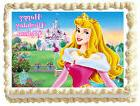 SLEEPING BEAUTY Princess Aurora Image Edible Cake topper des